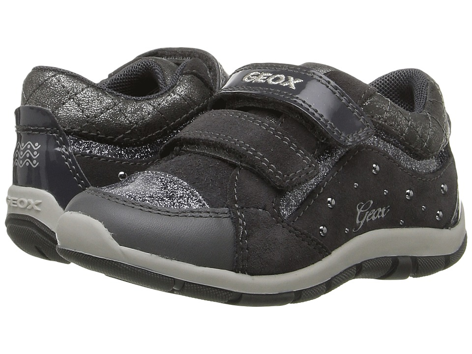 Geox Kids - Baby Shaax Girl 14 (Toddler) (Dark Grey) Girl's Shoes