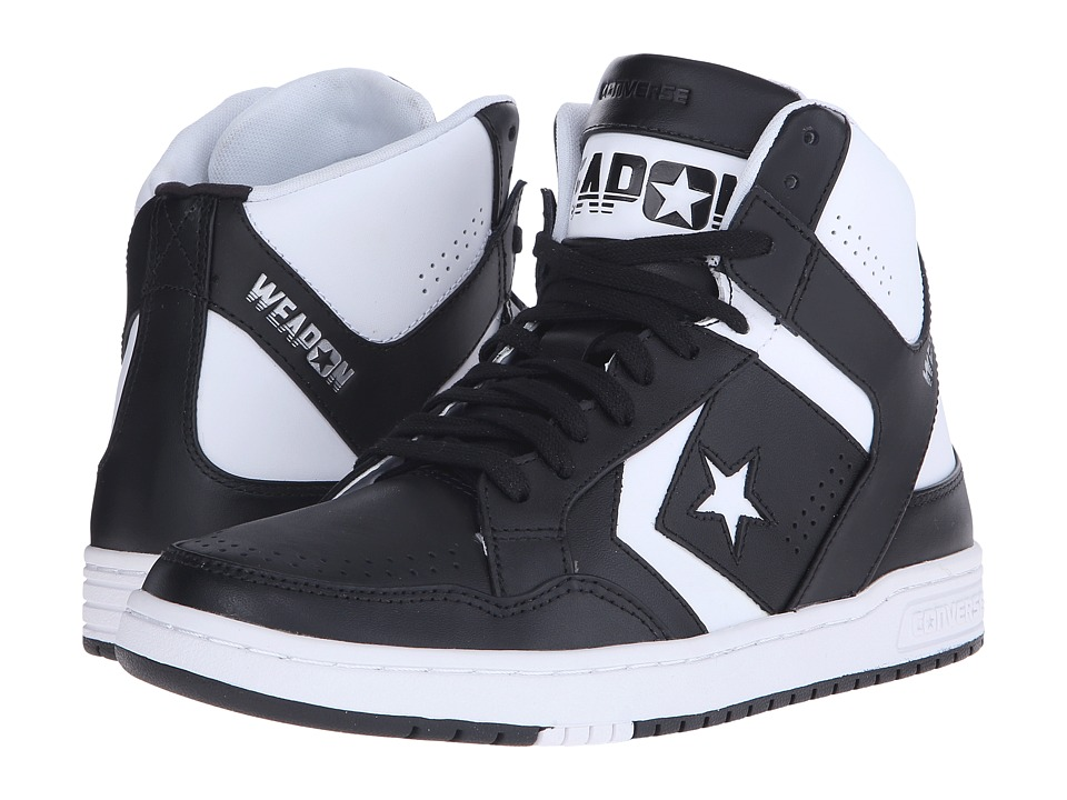 Converse - Weapon Mid (Black/White) Shoes