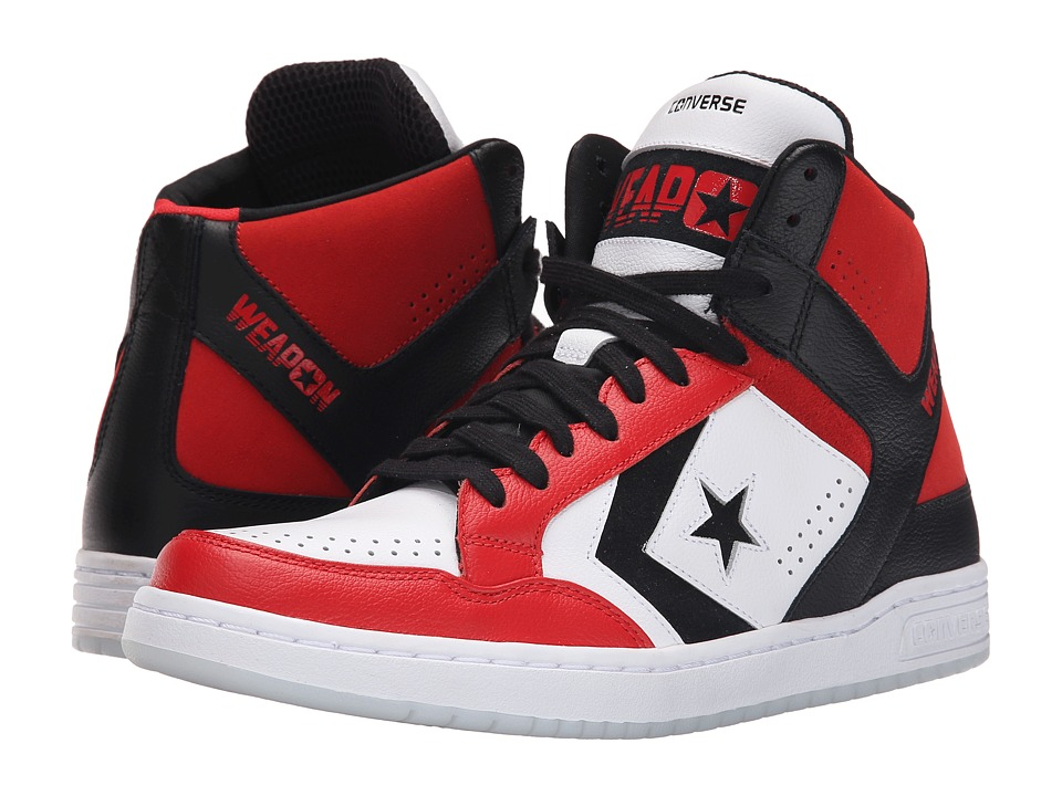 Converse - Weapon Mid (White/Red/Black) Shoes