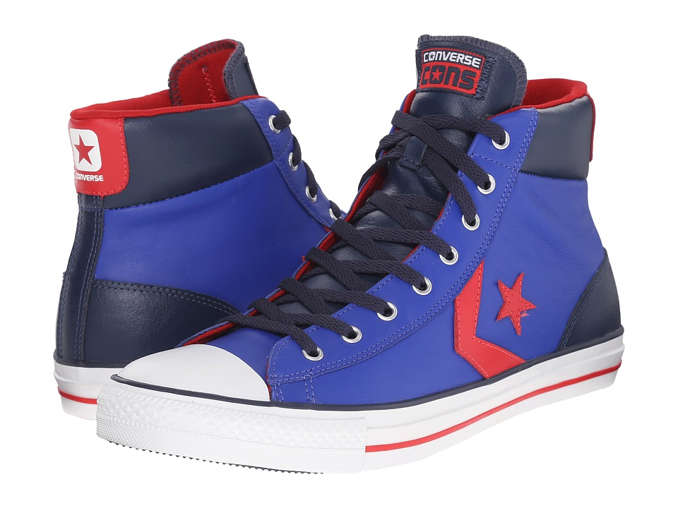 Converse - Star Player EV Mid (Royal Blue/Athletic Navy/Varsity Red/White) Classic Shoes