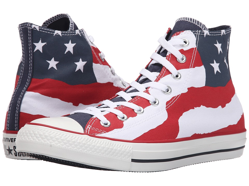 Converse - Chuck Taylor All Star Hi (Red/White/Blue) Classic Shoes