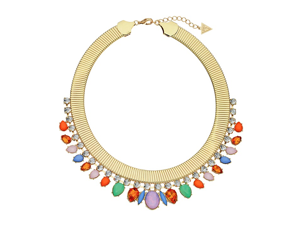 GUESS - Stone Collar Necklace (Gold/Multicolor) Necklace