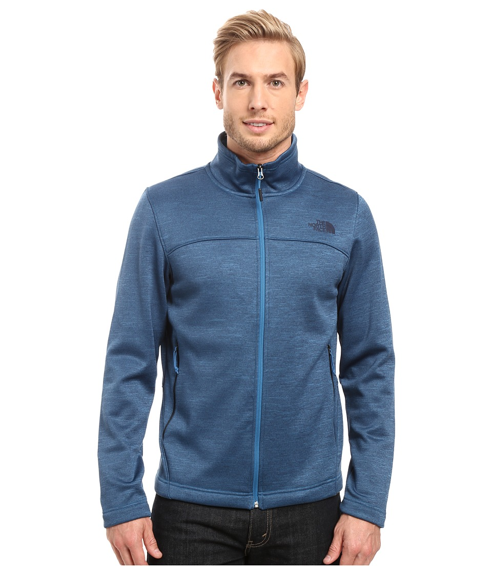 The North Face - Schenley Full Zip (Banff Blue Heather) Men's Fleece