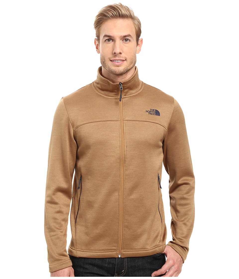 The North Face - Schenley Full Zip (Dijon Brown Heather) Men's Fleece