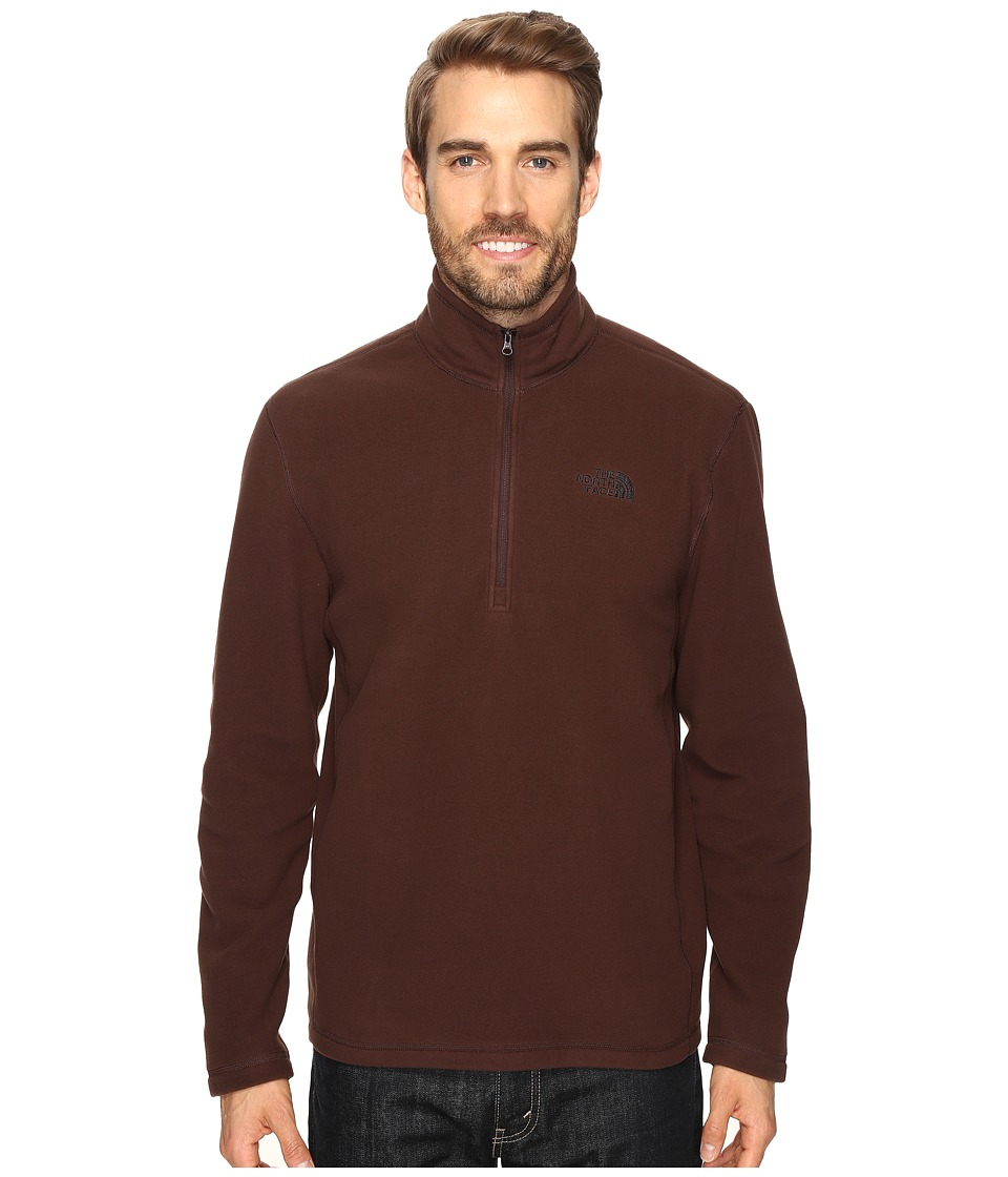 The North Face - TKA 100 Glacier 1/4 Zip (Coffee Bean Brown) Men's Sweatshirt