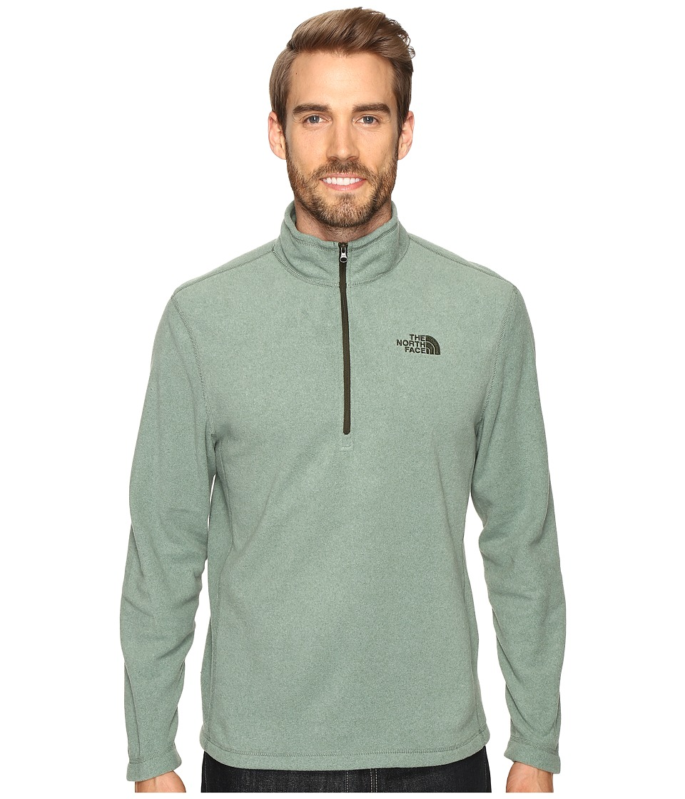 The North Face - TKA 100 Glacier 1/4 Zip (Duck Green Heather) Men's Sweatshirt