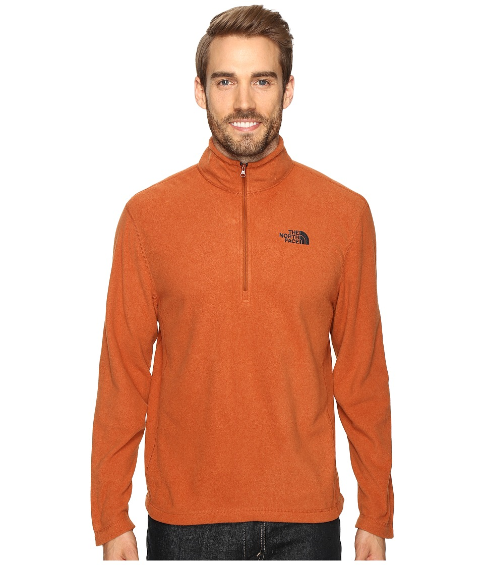 The North Face - TKA 100 Glacier 1/4 Zip (Gingerbread Brown Heather) Men's Sweatshirt