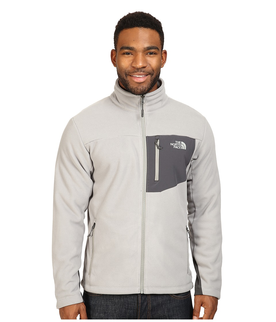 The North Face - Chimborazo Full Zip Fleece (Moon Mist Grey/Asphalt Grey) Men's Coat