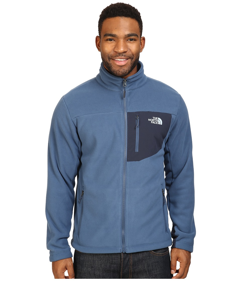 The North Face - Chimborazo Full Zip Fleece (Shady Blue/Urban Navy) Men's Coat