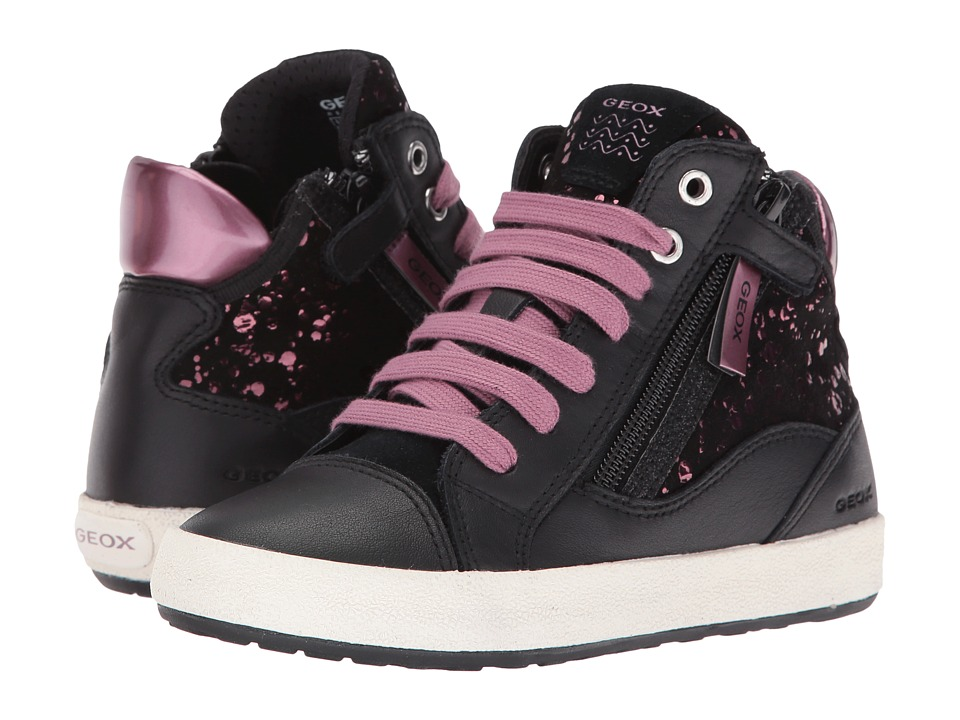 Geox Kids - Jr Witty 14 (Little Kid/Big Kid) (Black/Purple) Girl's Shoes