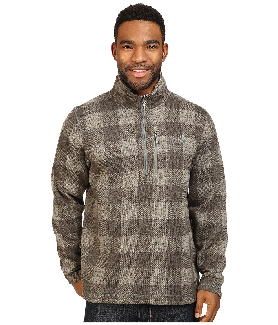 The North Face - Novelty Gordon Lyons 1/4 Zip (Moon Mist Grey Grizzly Print) Men's Fleece
