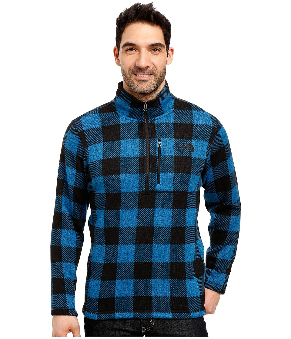 The North Face - Novelty Gordon Lyons 1/4 Zip (Banff Blue Grizzly Print) Men's Fleece