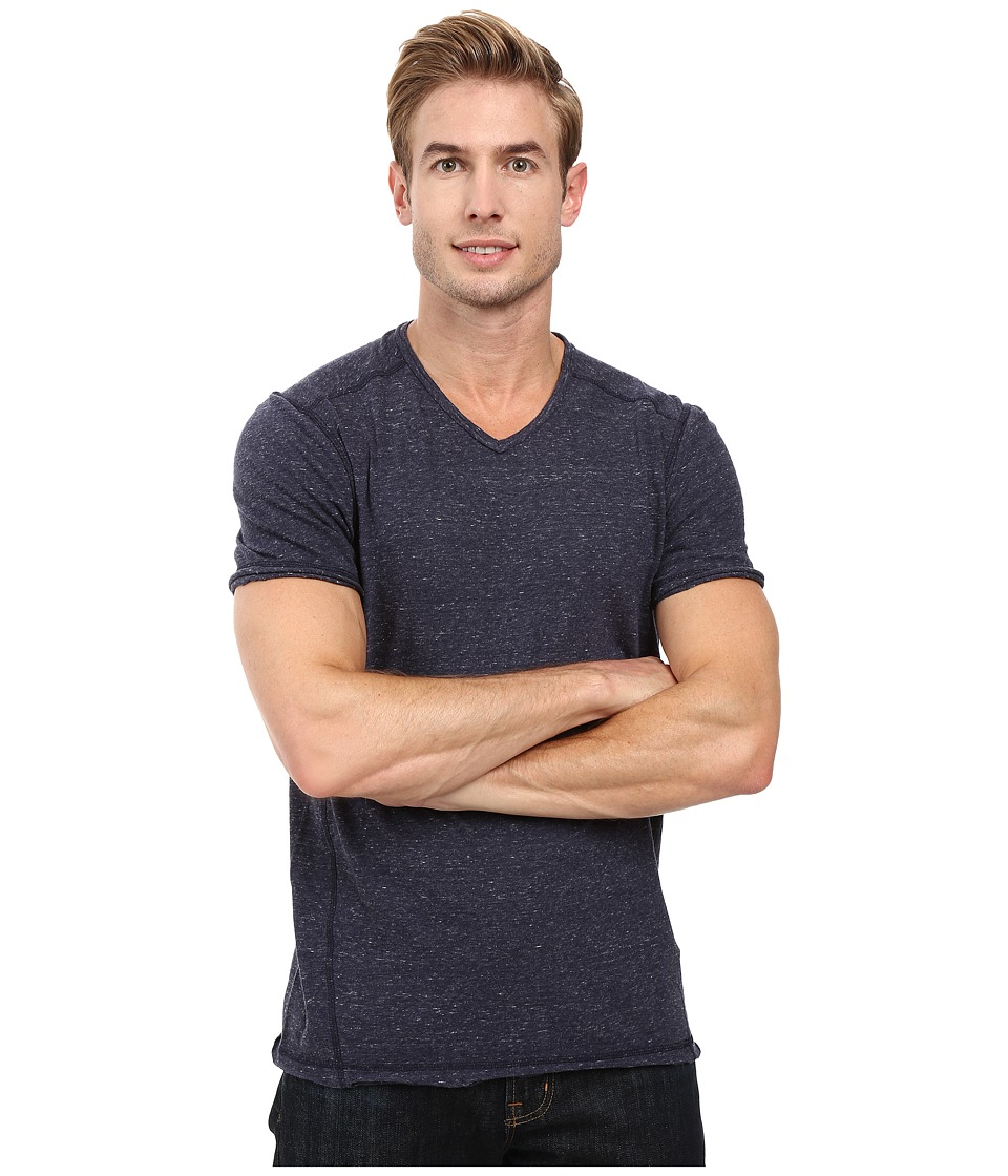 Calvin Klein Jeans - Basic Modern Slub Short Sleeve V-Neck (Navy Armada) Men's T Shirt