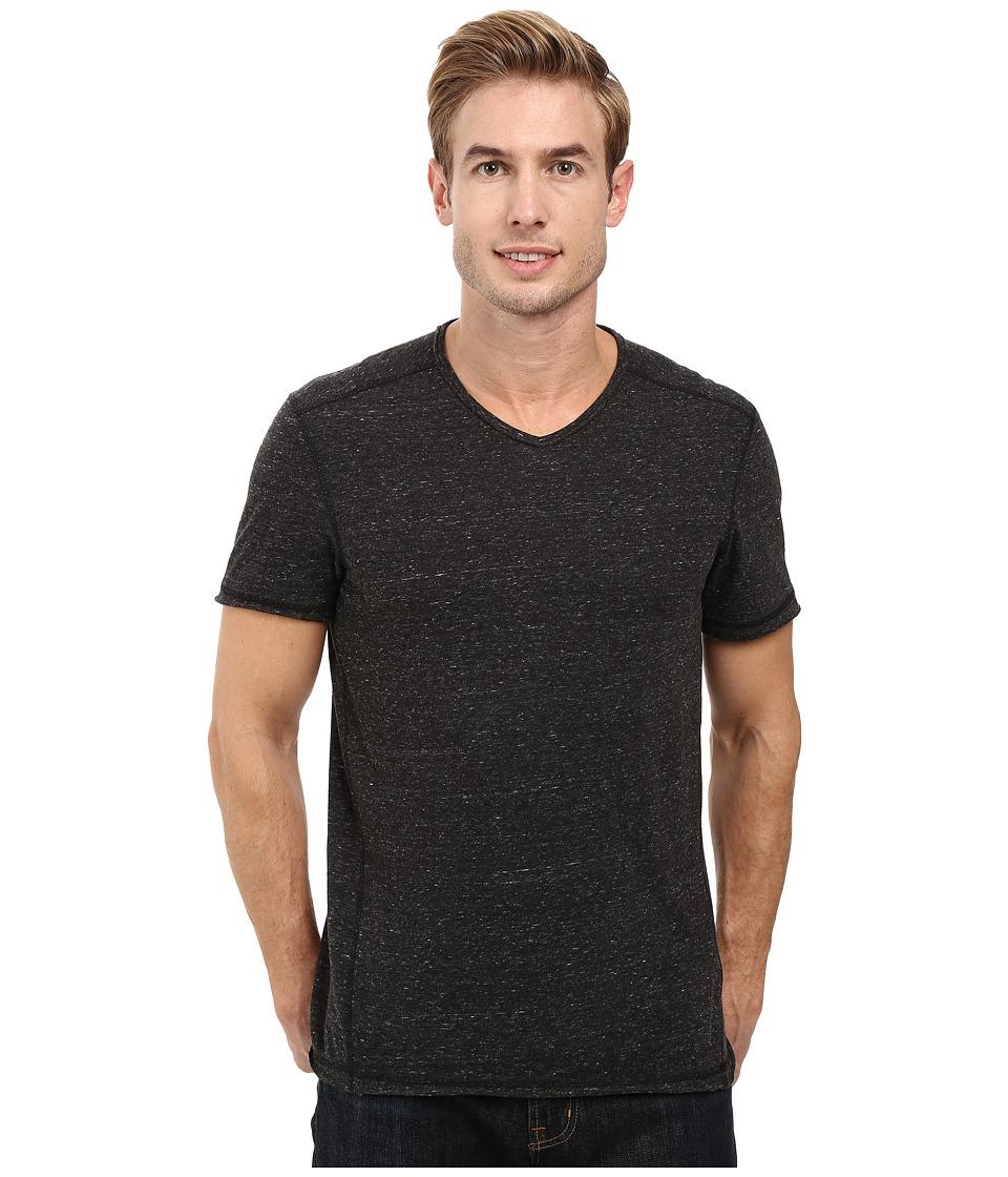 Calvin Klein Jeans - Basic Modern Slub Short Sleeve V-Neck (Black) Men's T Shirt