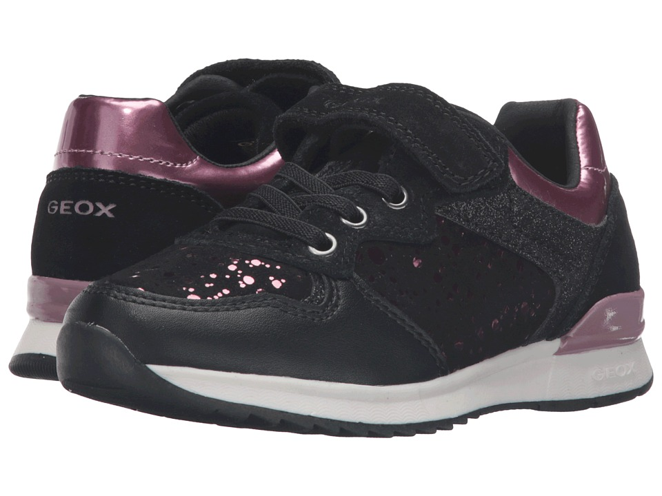 Geox Kids - Jr Maisie Girl 6 (Toddler/Little Kid) (Black) Girl's Shoes