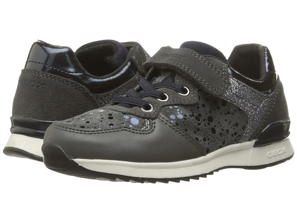 Geox Kids - Jr Maisie Girl 6 (Toddler/Little Kid) (Dark Grey) Girl's Shoes