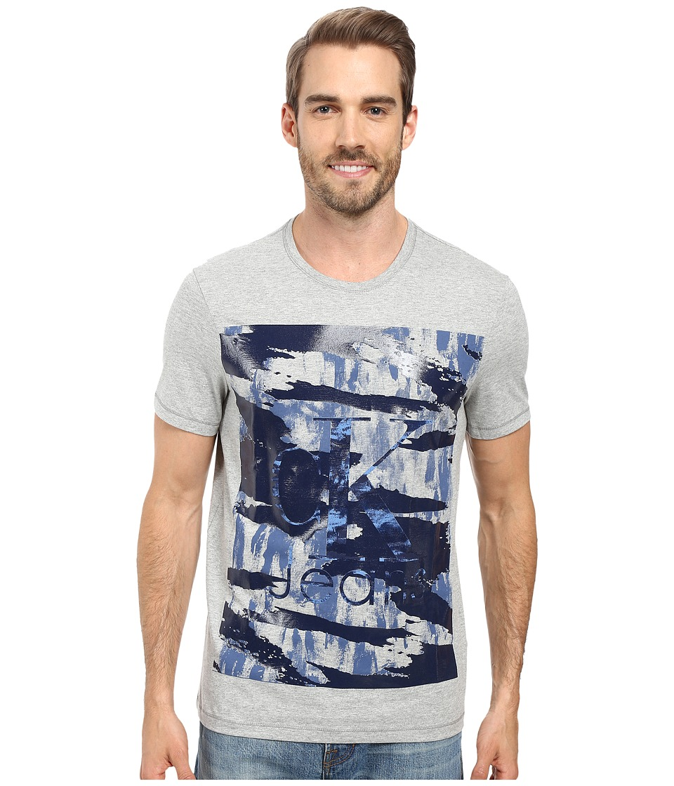 Calvin Klein Jeans - Camo Crew Neck Tee (Medium Charcoal Heather) Men's T Shirt