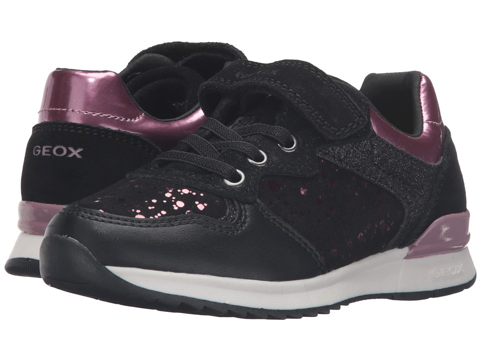 Geox Kids - Jr Maisie Girl 6 (Little Kid/Big Kid) (Black) Girl's Shoes