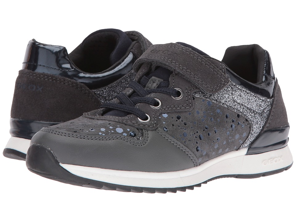Geox Kids - Jr Maisie Girl 6 (Little Kid/Big Kid) (Dark Grey) Girl's Shoes