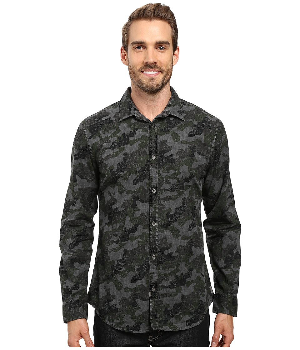Calvin Klein Jeans - Melange Camo Print (Nickel Heather) Men's Clothing
