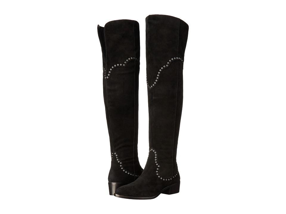 Frye - Ray Grommet Over-The-Knee (Black) Women's Shoes