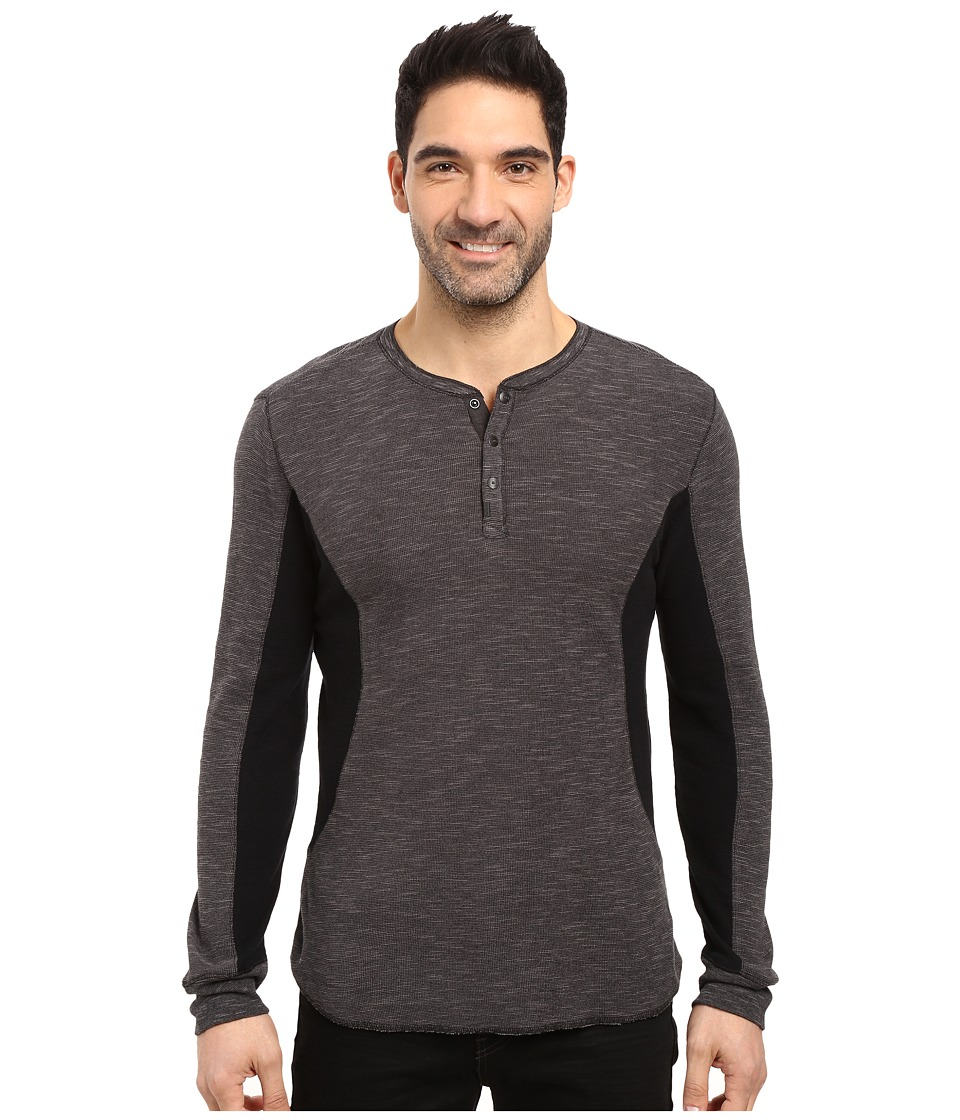 Calvin Klein Jeans Mixed Media Slub Waffle Henley (Smoked Pearl) Men