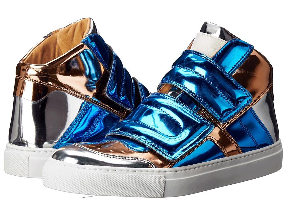 MM6 Maison Margiela - Mirrored High Top (Blue/Copper/Silver Mirror) Women's Shoes
