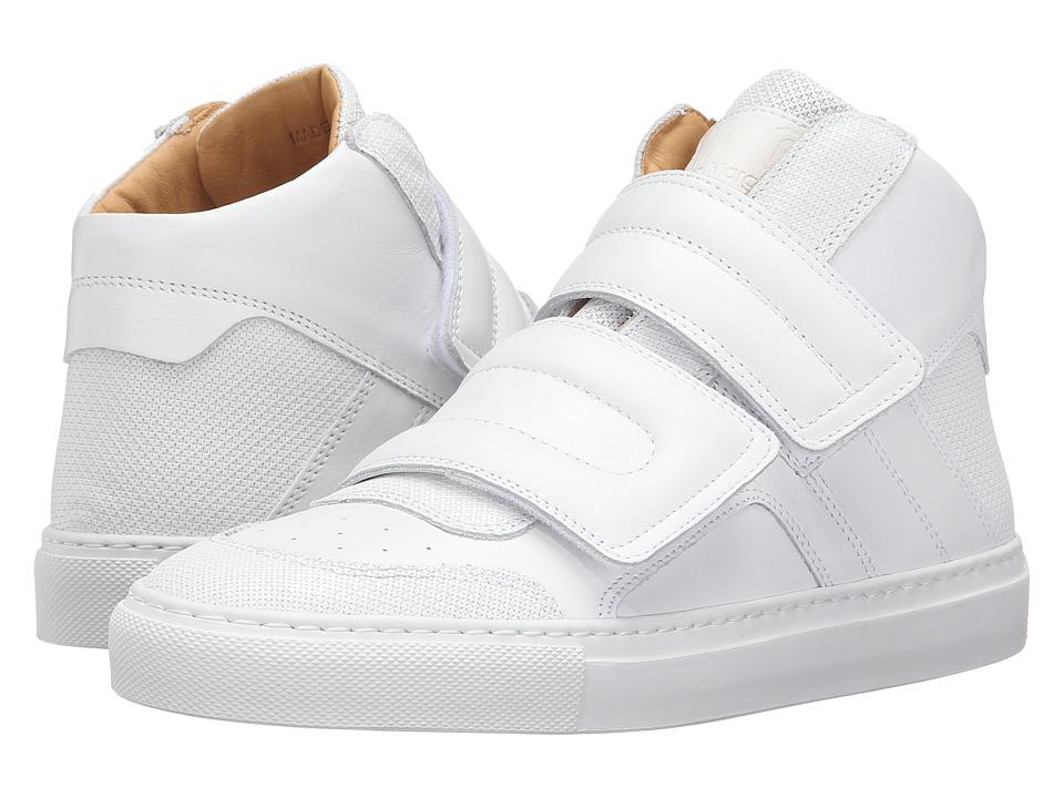 MM6 Maison Margiela - High Top (White/White Calf) Women's Shoes