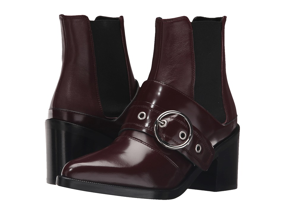 MM6 Maison Margiela Harness Chelsea Boot (Bordeaux/Bordeaux Leather) Women