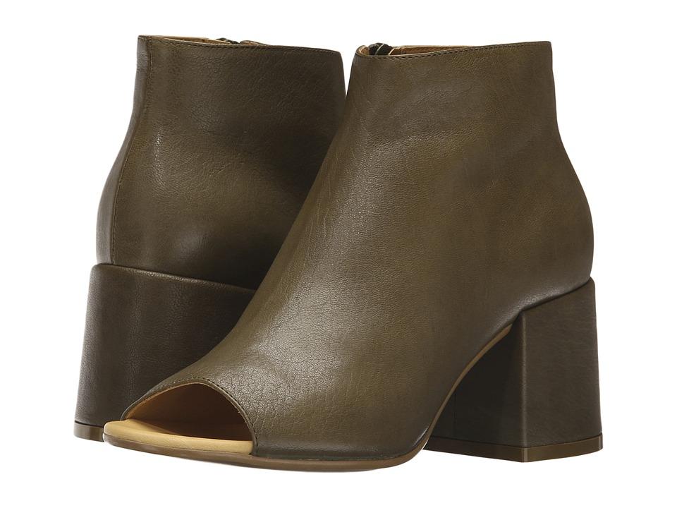 MM6 Maison Margiela Deconstructed Open Toe Bootie (Light Green Leather) Women