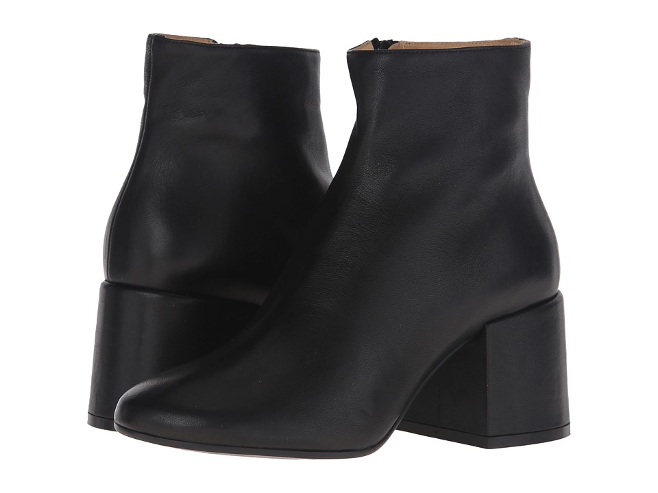 MM6 Maison Margiela - Deconstructed Heel Bootie (Black Leather) Women's Boots