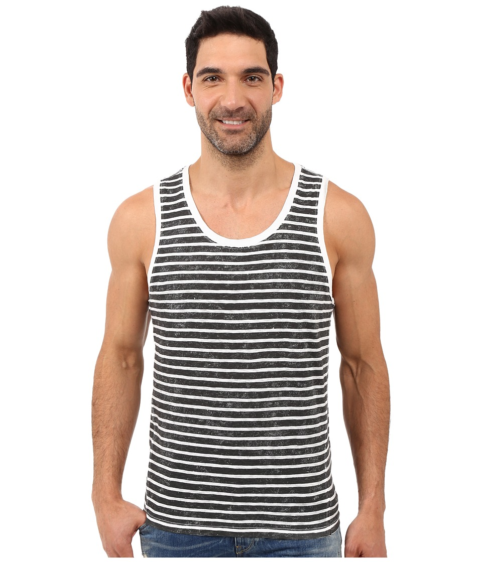 Calvin Klein Jeans - Washed Stripe Tank Top (Asphalt) Men's Sleeveless