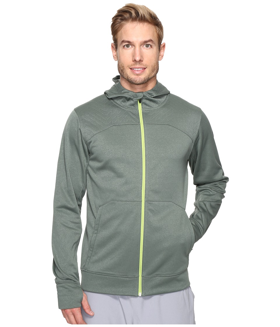 The North Face - Ampere Full Zip Hoodie (Duck Green/Chive Green) Men's Sweatshirt