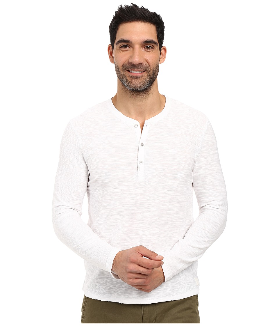 Calvin Klein Jeans - Long Sleeve Henley (Classic White) Men's Clothing
