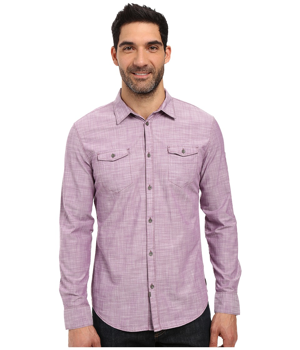 Calvin Klein Jeans - Chambray Crosshatch Aviator (Prune Purple) Men's Clothing