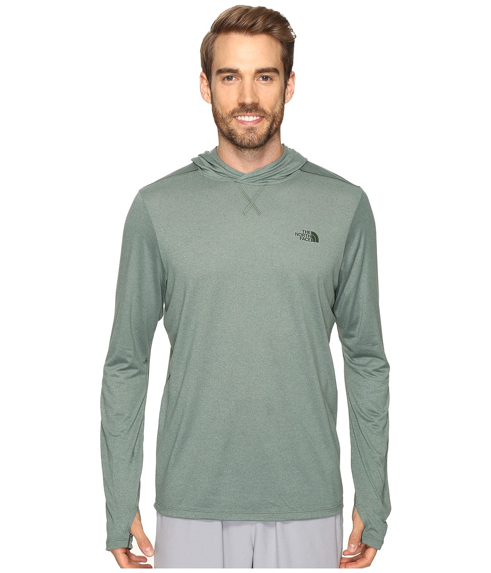 The North Face - Reactor Hoodie (Duck Green Heather) Men's Sweatshirt