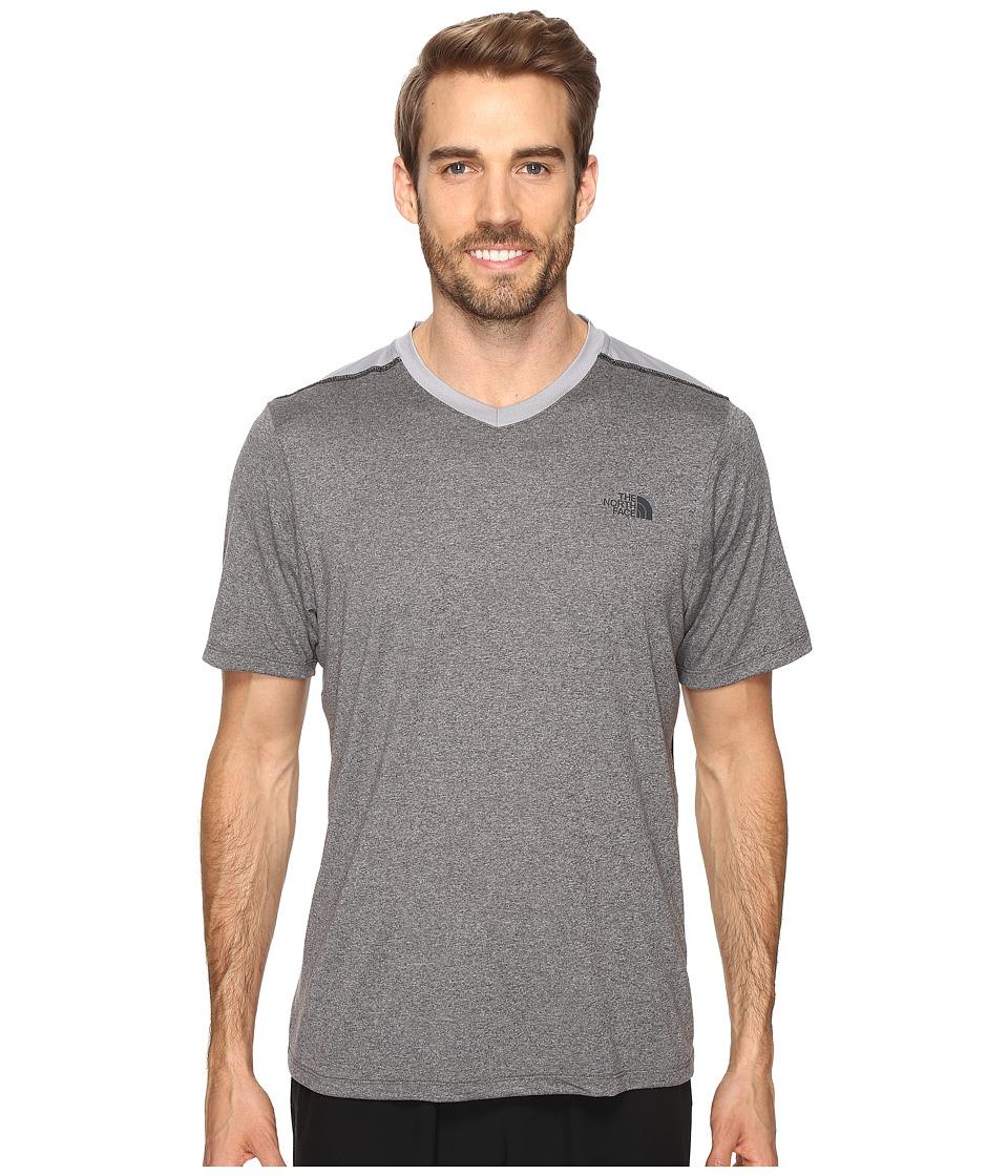 The North Face - Reactor Short Sleeve V-Neck (TNF Medium Grey Heather (Prior Season)) Men's Clothing