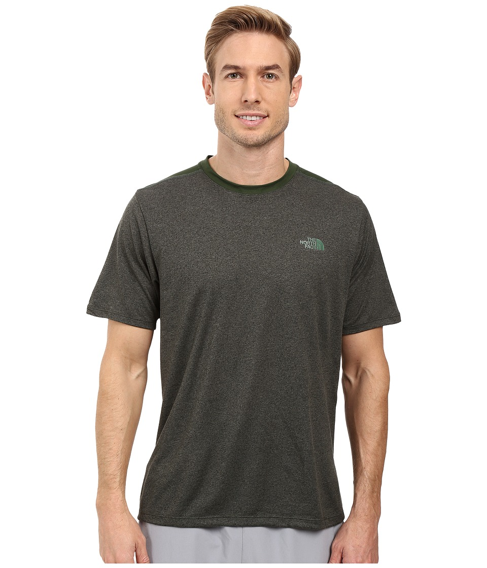 The North Face - Reactor Short Sleeve Crew (Climbing Ivy Green Heather) Men's Clothing