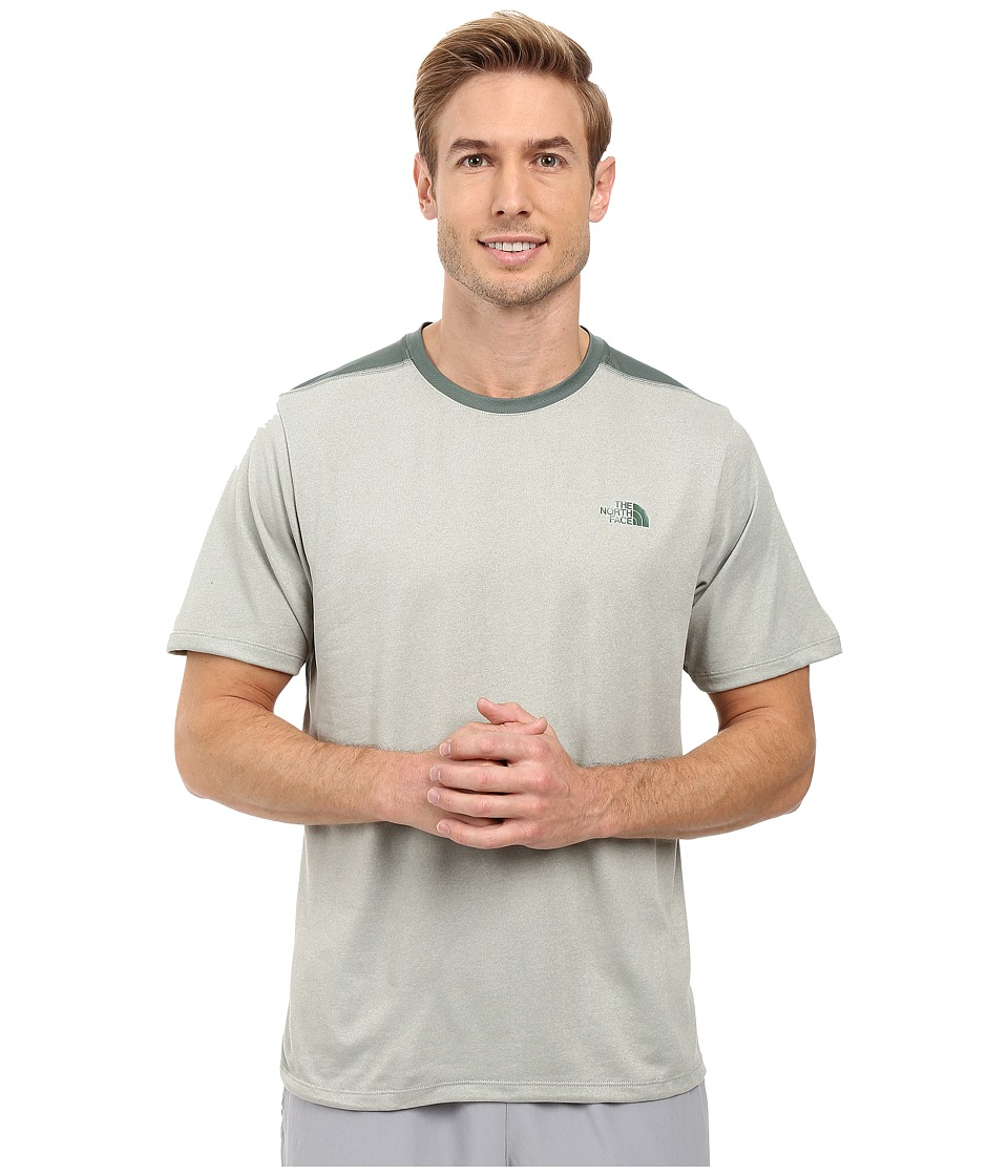 The North Face Reactor Short Sleeve Crew (Wrought Iron Heather) Men