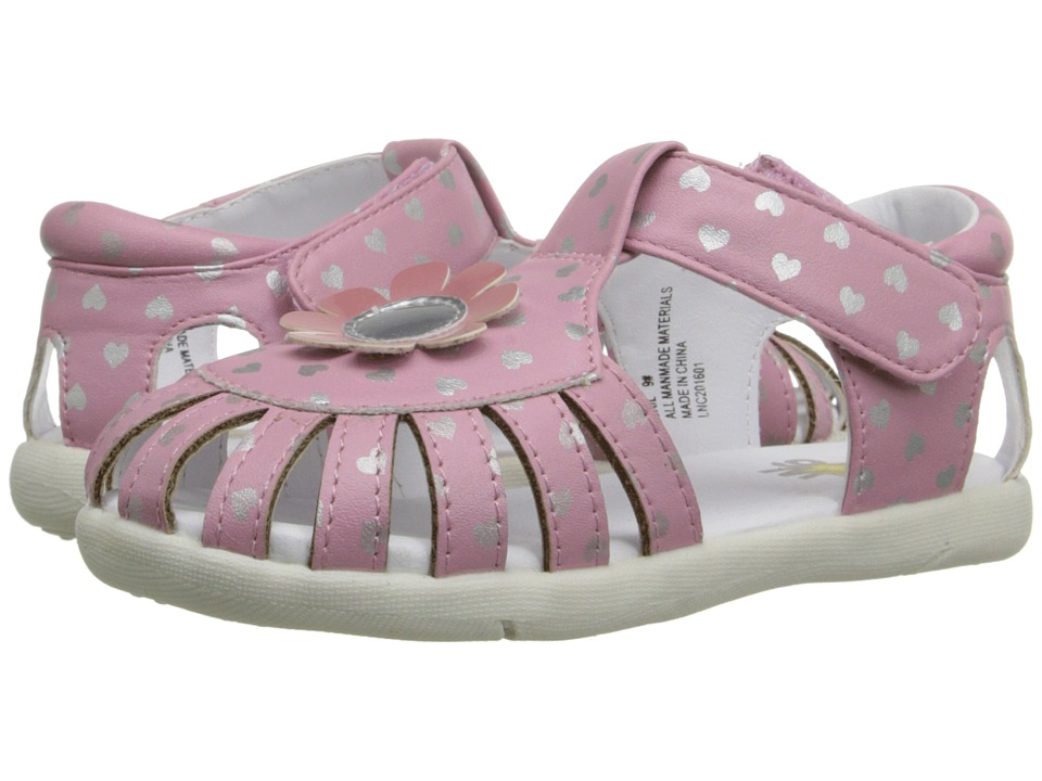 W6YZ - Gail (Toddler) (Pink/Silver) Girls Shoes