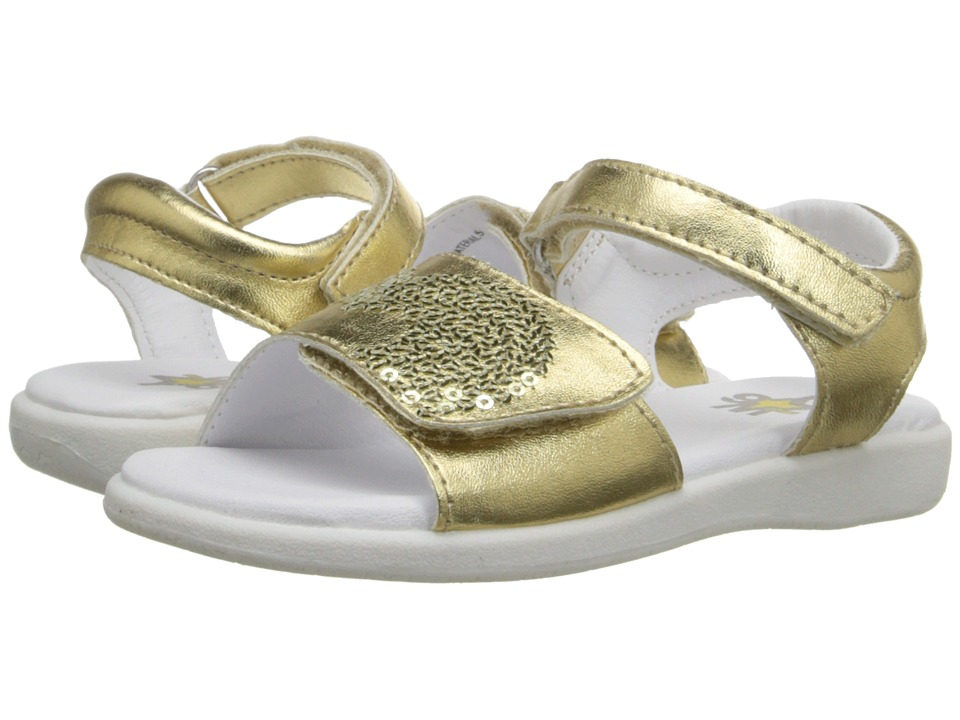 W6YZ - Leah (Toddler/Little Kid) (Gold) Girls Shoes