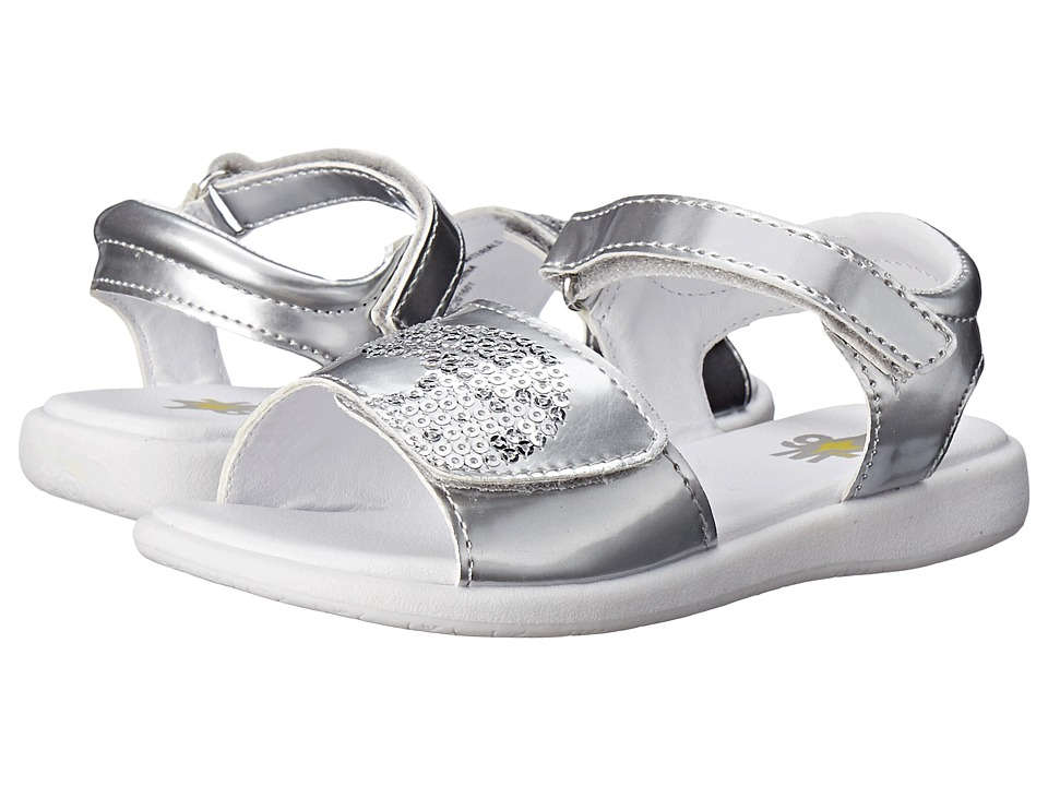 W6YZ - Leah (Toddler/Little Kid) (Silver) Girls Shoes