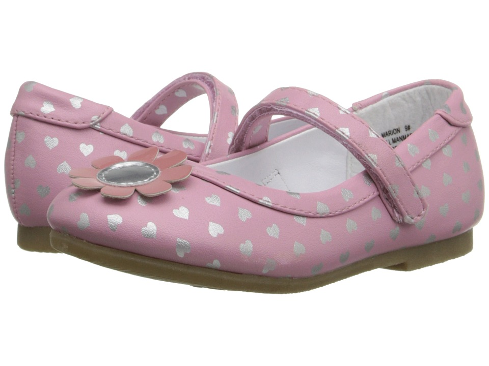 W6YZ - Marion (Toddler/Little Kid) (Pink/Silver) Girls Shoes