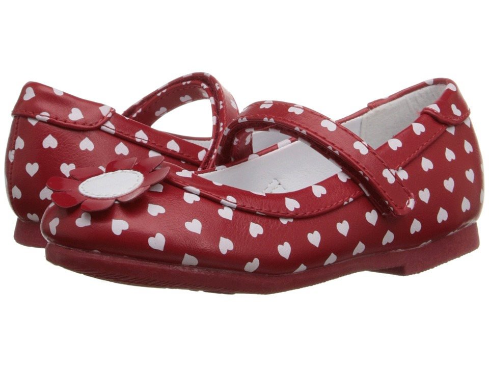 W6YZ - Marion (Toddler/Little Kid) (Red/White) Girls Shoes