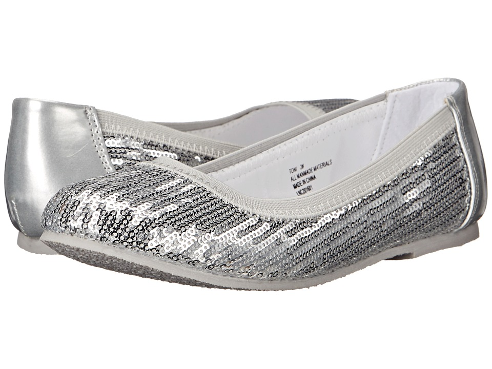 W6YZ - Toni (Little Kid/Big Kid) (Silver) Girls Shoes