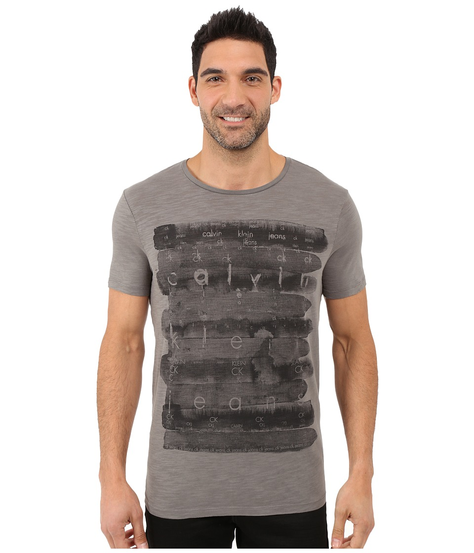Calvin Klein Jeans - Watercolor Tee (Platinum) Men's T Shirt
