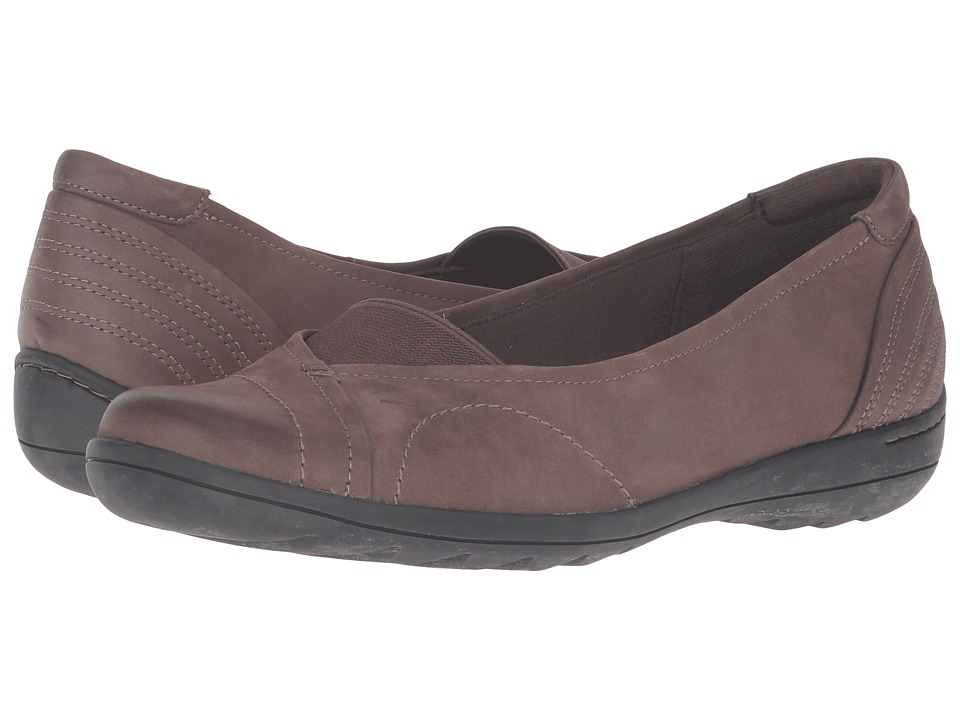 Rockport Cobb Hill Collection - Cobb Hill Lizzie (Stone) Women's Slip on Shoes