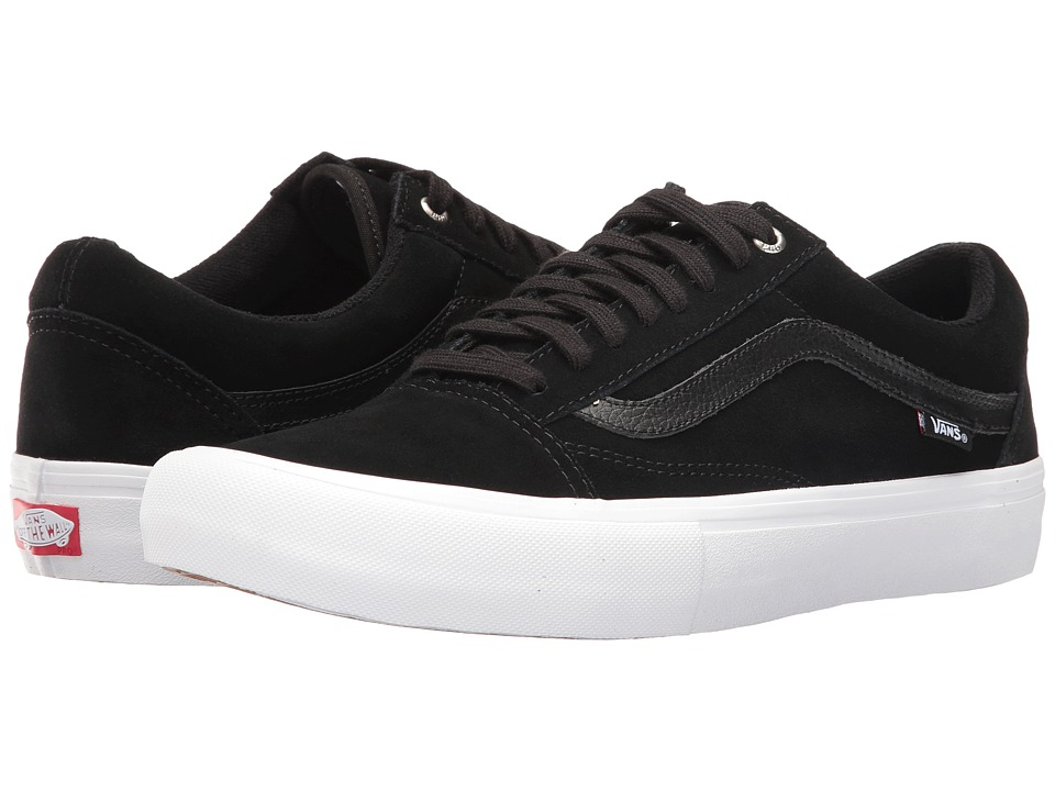 Vans - Old Skool Pro (Black/Black/White) Men's Skate Shoes