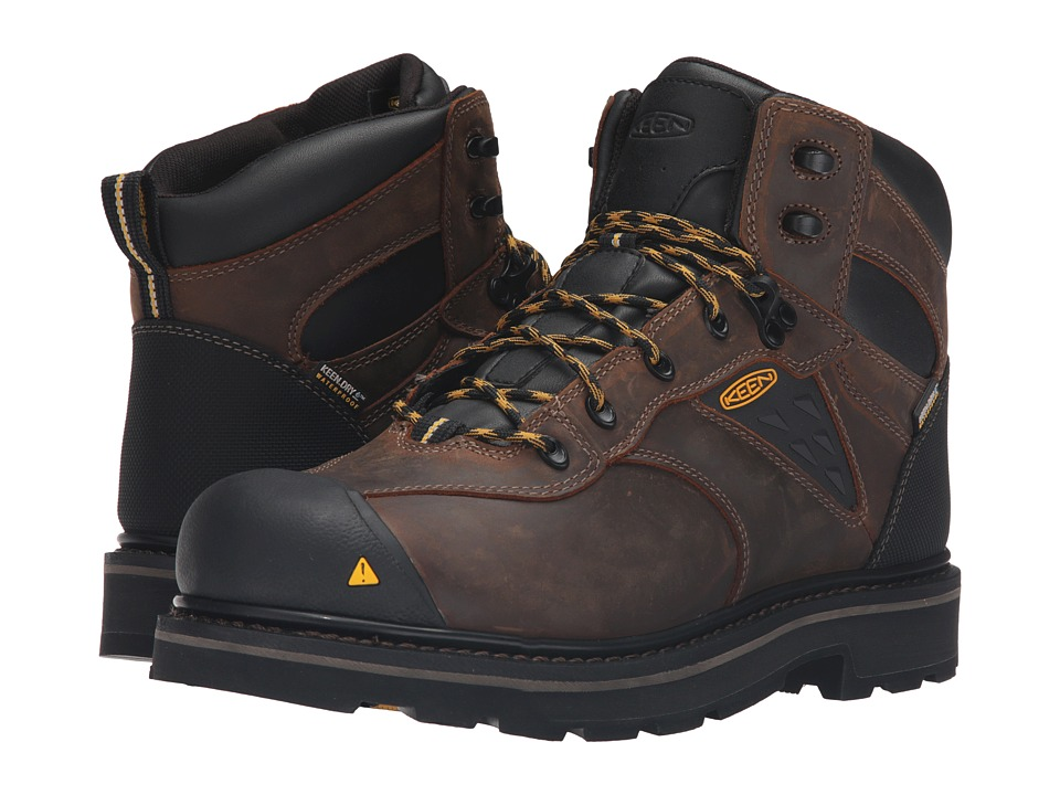 Keen Utility - Tacoma Soft Toe WP (Cascade Brown) Men's Work Boots