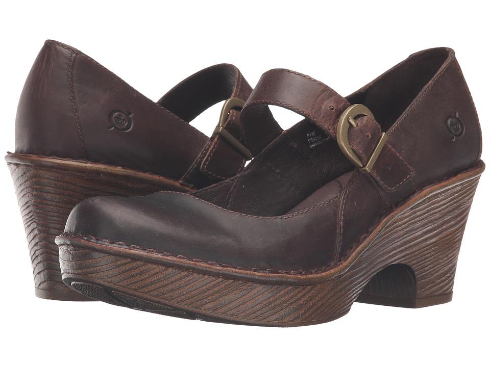 Born - Lezlie (Sand Full Grain Leather) Women's Clog Shoes